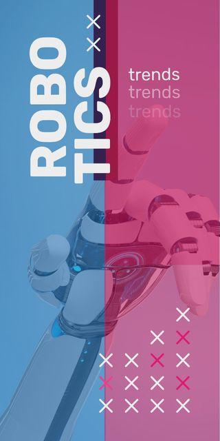Plantilla de diseño de Android robot hand Graphic