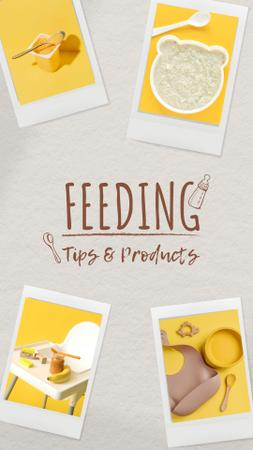 Modèle de visuel Baby Feeding Tips with Highchair and Nutrition - Instagram Story