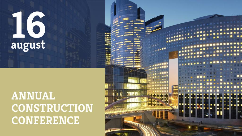 Construction Conference with Modern Buildings — Modelo de projeto