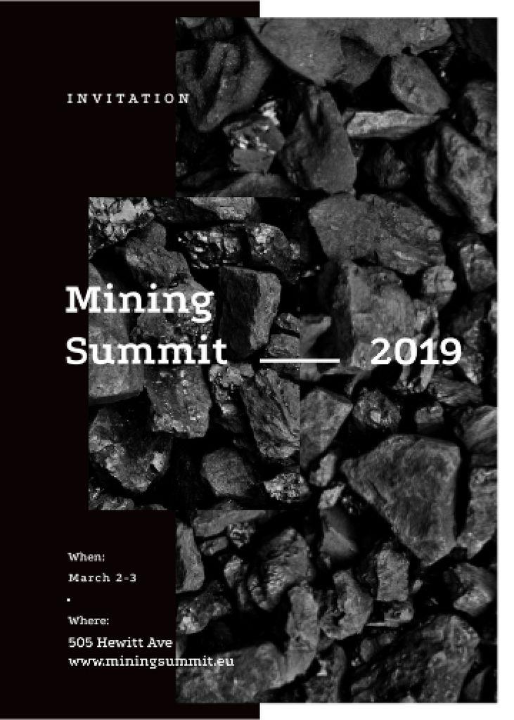 Black coal pieces for Mining summit — Створити дизайн