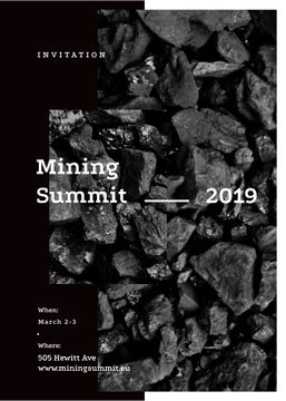 Black coal pieces for Mining summit
