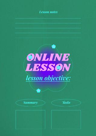 Ontwerpsjabloon van Schedule Planner van Online Lesson Planning