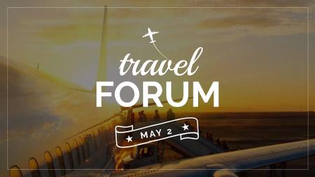 Plane in Scenic sky FB event cover Modelo de Design