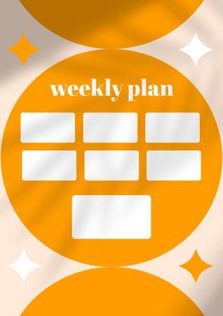 Bright Weekly Plan Schedule Planner – шаблон для дизайна