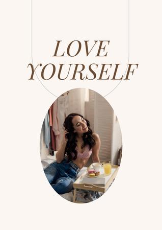 Ontwerpsjabloon van Poster van Girl Power Inspiration with Young Woman
