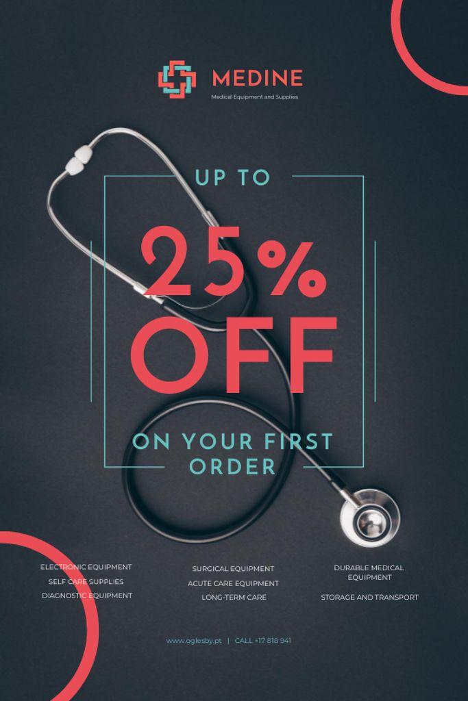 Szablon projektu Clinic Promotion with Medical Stethoscope Tumblr