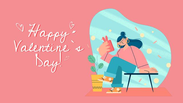 Heart-shaped Gift box for Valentine's Day Full HD video Modelo de Design