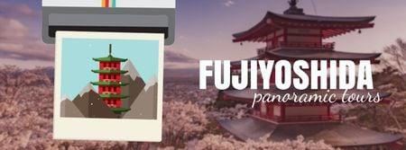 Plantilla de diseño de Fujiyoshida famous Travelling spots Facebook Video cover