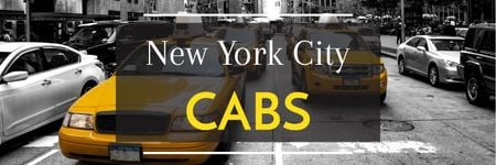 Taxi Cars in New York Twitterデザインテンプレート