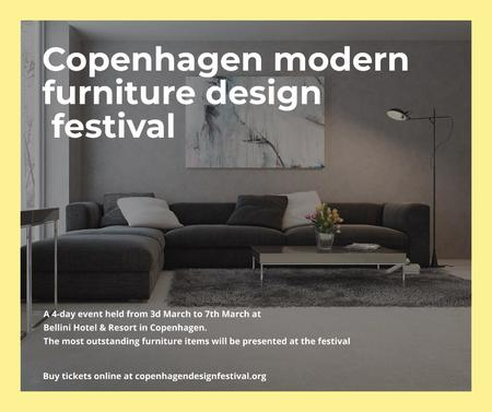 Modern furniture design festival Facebook – шаблон для дизайна