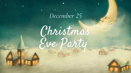 Christmas Eve Party with Cozy Village FB event cover – шаблон для дизайна