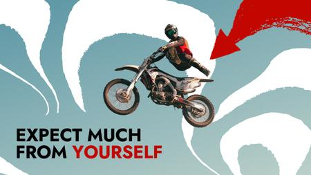 Template di design Manhood Inspiration with Extreme Man on Motorcycle Youtube Thumbnail