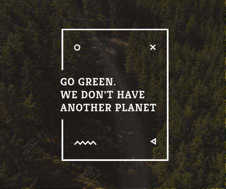 Template di design Ecology Quote with Forest Road View Facebook