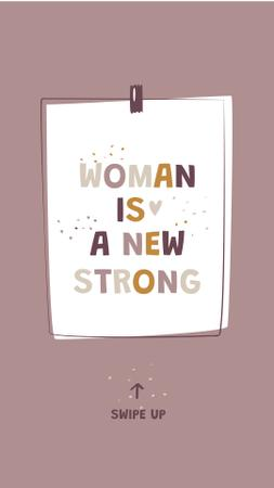 Girl Power Inspirational Citation Instagram Story Modelo de Design