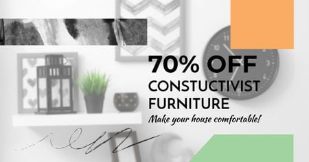 Constructivist furniture Sale Facebook AD – шаблон для дизайна