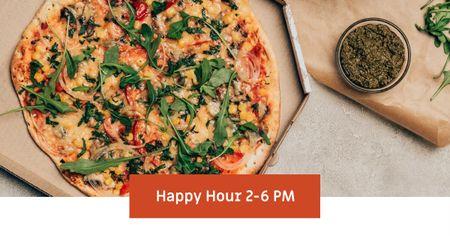 Template di design Italian Pizza Happy Hour promotion Facebook AD