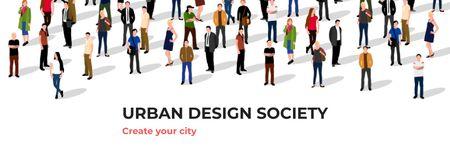 Urban Design Society Ad Facebook cover Modelo de Design