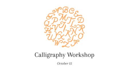Ontwerpsjabloon van FB event cover van Calligraphy Learning Offer