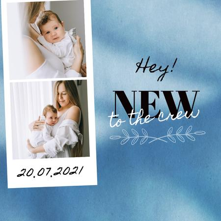 Birthday Greeting with Mother and Newborn Baby Instagram – шаблон для дизайну