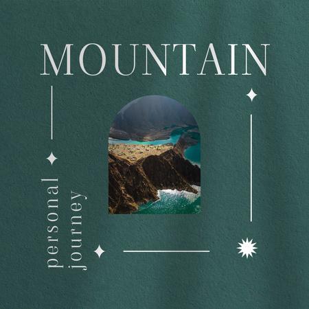 Ontwerpsjabloon van Instagram van Travel Inspiration with Mountain Landscape