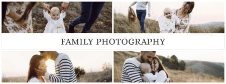 Plantilla de diseño de Family Photography Services Offer Facebook cover