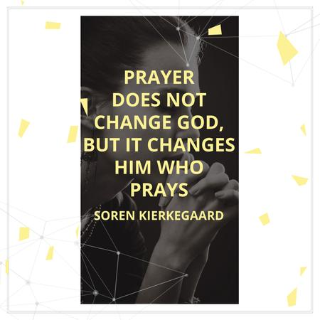 Modèle de visuel Religion Citation about Prayer - Instagram