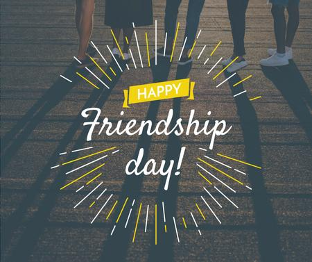 Friendship Day greeting Young People Together Facebook Design Template