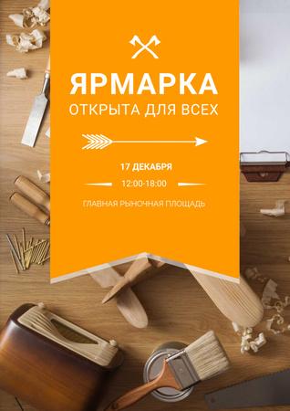 Craft fair Ad with tools Poster – шаблон для дизайна