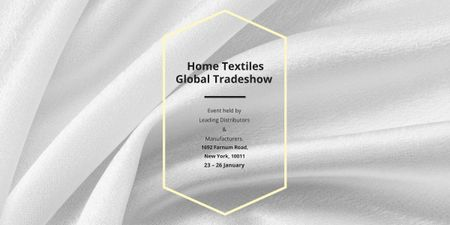 Home Textiles event announcement White Silk Image – шаблон для дизайну