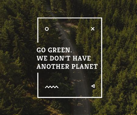 Modèle de visuel Ecology Quote with Forest Road View - Facebook