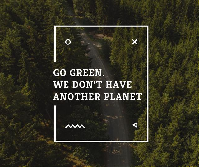 Ecology Quote with Forest Road View Facebook – шаблон для дизайну