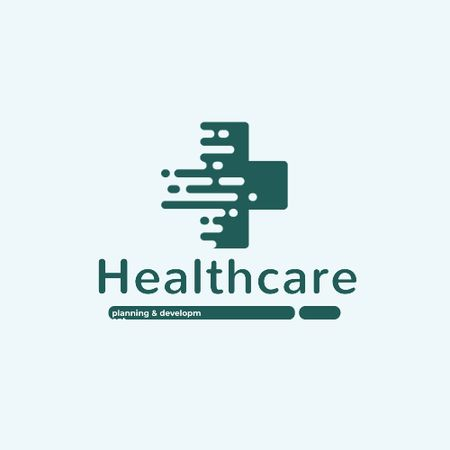 Healthcare Clinic with Medical Cross Icon Animated Logo Modelo de Design