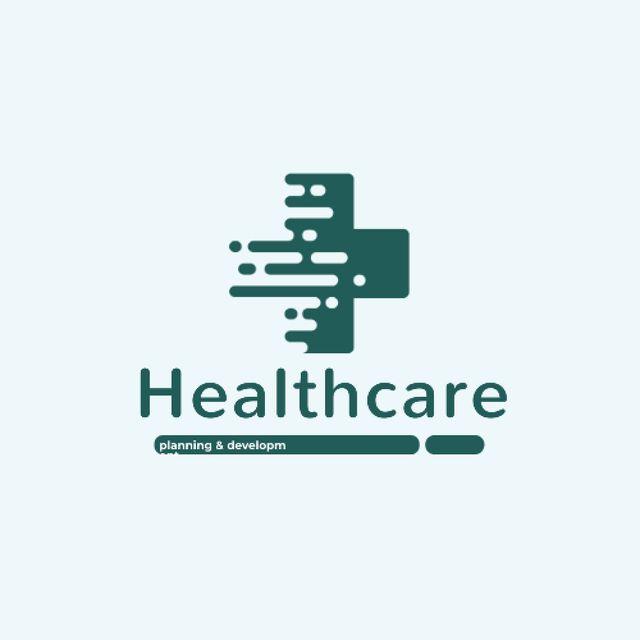 Healthcare Clinic with Medical Cross Icon Animated Logo Tasarım Şablonu