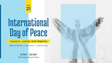 International Day of Peace Bird Symbol on Blue