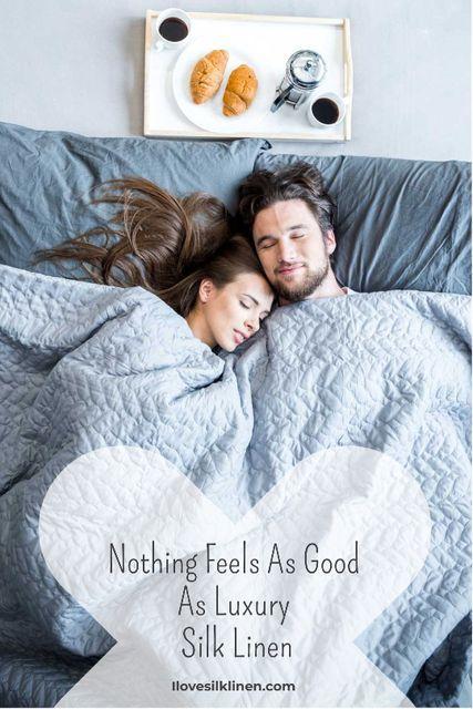 Ontwerpsjabloon van Tumblr van Bed Linen ad with Couple sleeping in bed