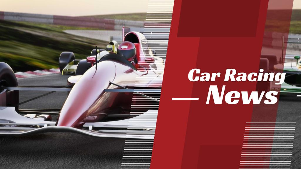 Template di design Racing News with red sports car FB event cover