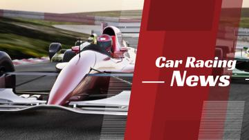Racing News with red sports car