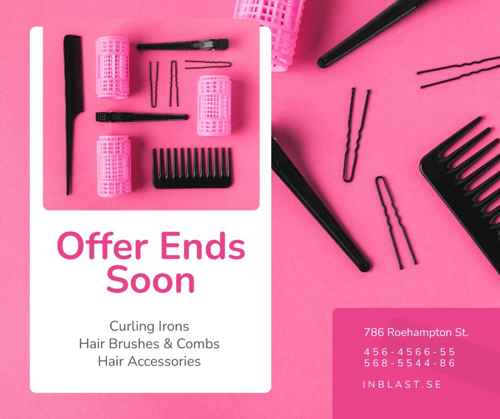 Hairdressing Tools Sale in Pink — Crear un diseño