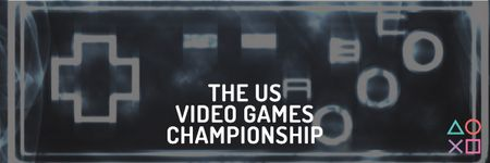 Video games Championship Email header Modelo de Design