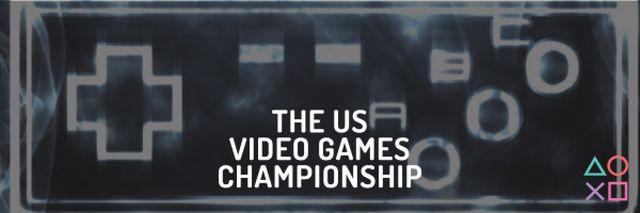 Ontwerpsjabloon van Email header van Video games Championship