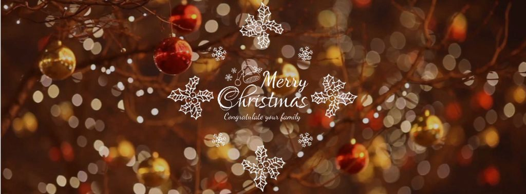 Shiny Christmas decorations — Modelo de projeto