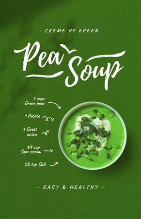 Template di design Pea Soup Cooking Steps Recipe Card