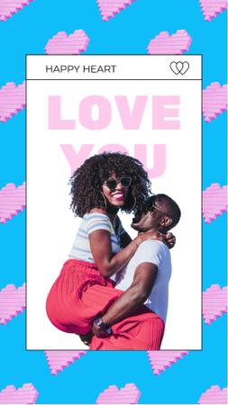 Modèle de visuel Happy Couple of Lovers - Instagram Video Story