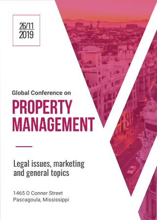 Plantilla de diseño de Property Management Conference City Street View Flayer
