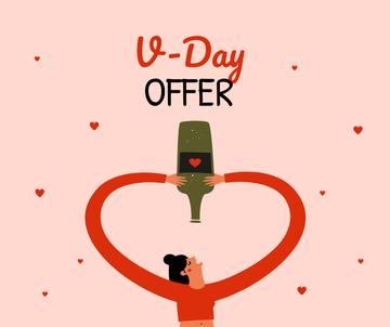 Wine offer on Valentine's day