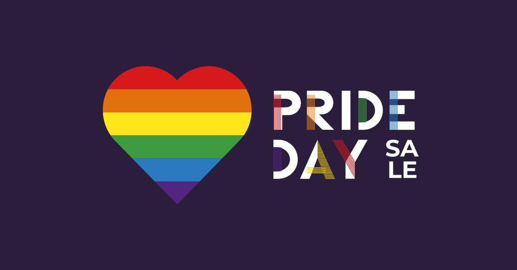 Pride Day Sale with Rainbow Heart — Crear un diseño