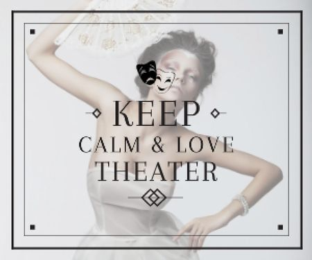 Citation about love to theater Medium Rectangle Modelo de Design