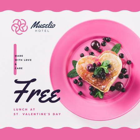 Template di design Valentine's Day Lunch Pancakes with Berries Instagram