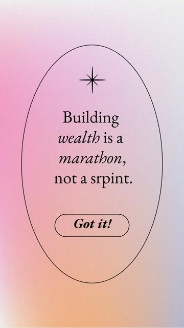 Wealth Inspirational Quote Instagram Story Tasarım Şablonu