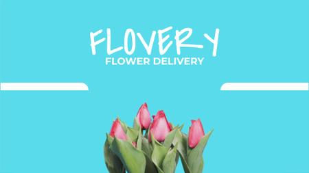 Plantilla de diseño de Florist Services Ad Growing and Blooming Tulips Full HD video